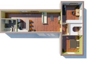 RMG modulový dům varianta Dvojmodul L1P