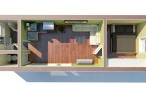 RMG modulový dům medium varianta M1