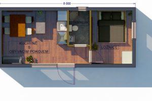 RMG modulový dům small varianta S1