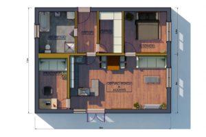 RMG modulový dům varianta Dvojmodul 2