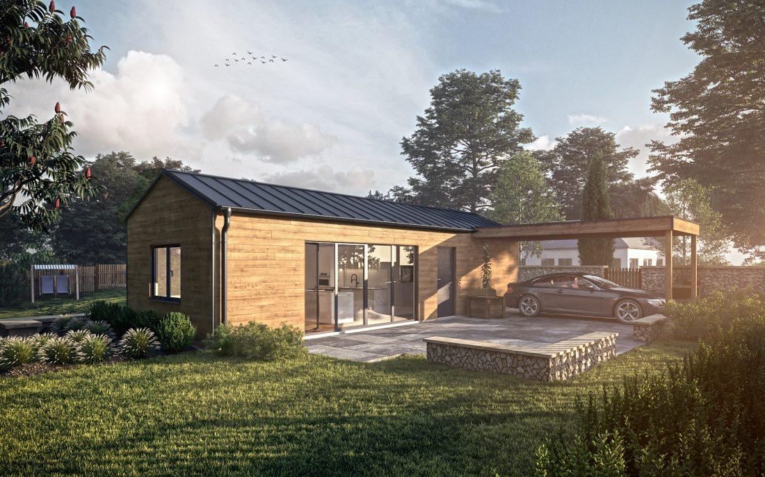 vizualizace modulového domu