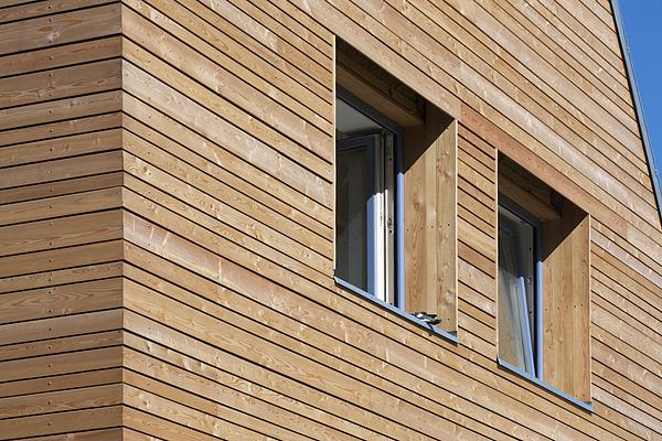 fasáda modulových dřevostaveb - rhombus