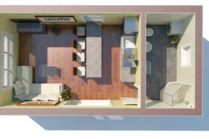RMG modulový dům mini varianta B